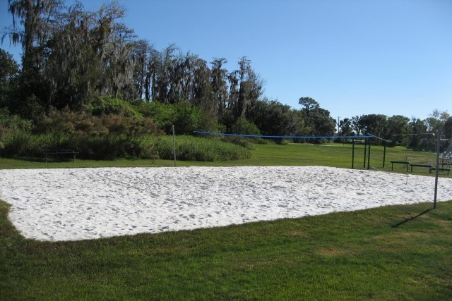 Lake Berkley volleyball court